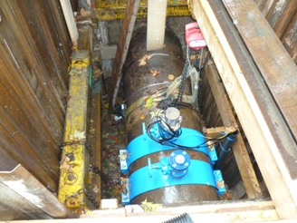 GPS repeaters provide signal in Crossrail tunnel for these water flow monitoring pods