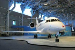 GPS repeater in aircraft hangar