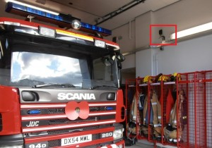 GPS repeater in a fire station providing continuous signal to MDT and satnav devices