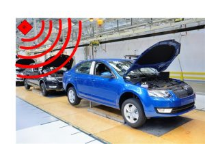 GPS repeater in vehicle assembly plant